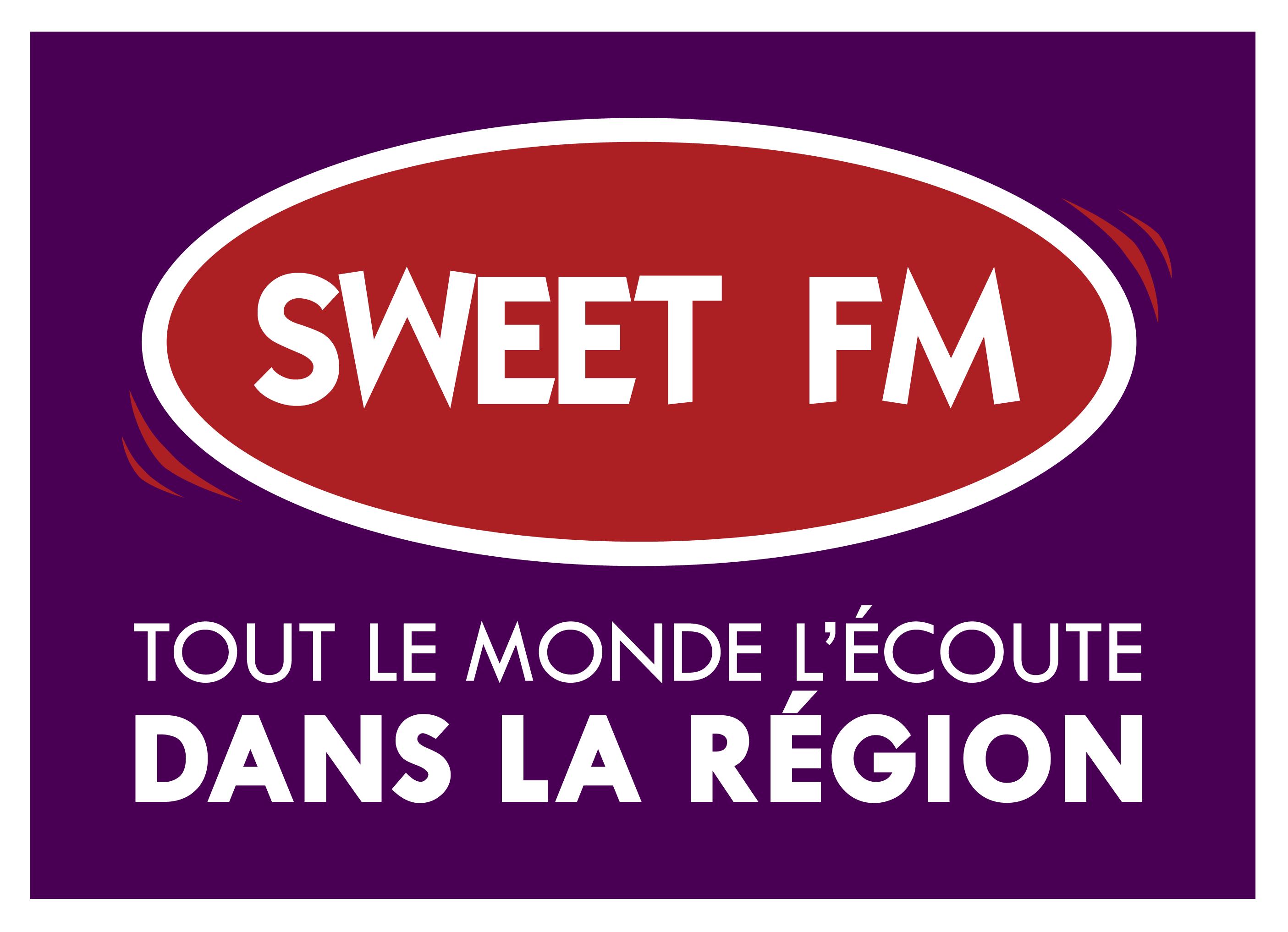Logo Sweet FM, une radio commercialisée par Régie Radio Régions