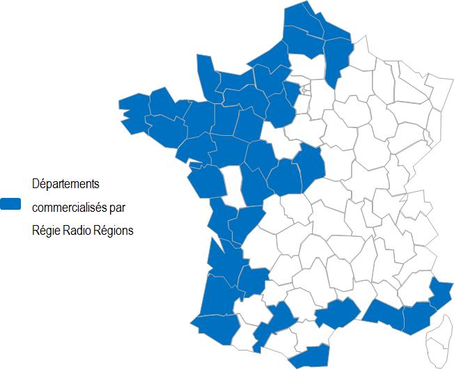 Régie Radio Régions commercialisera 20 nouvelles fréquences Virgin Radio ou RFM. Découvrez la carte des départements couvert par Régie Radio Régions