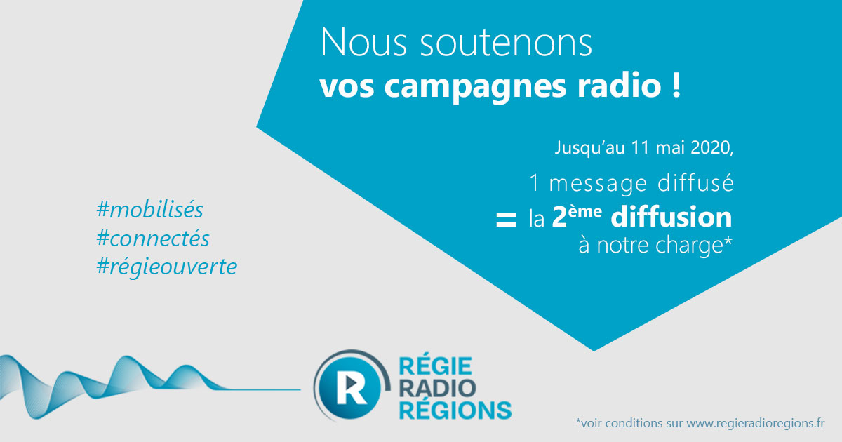 Régie Radio Régions offre 1=2
