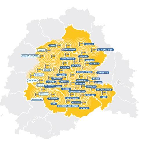 Régie Radio Régions carte communiquer sur Totem